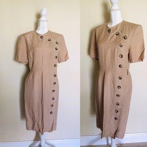 Asymmetrical Buttoning Dress